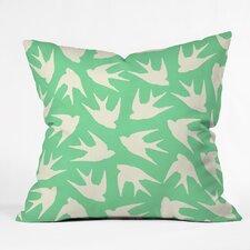 Jacqueline Maldonado Birds Celadon Indoor/Outdoor Throw Pillow