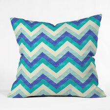 Jacqueline Maldonado Chevron Ocean Indoor outdoor Throw Pillow