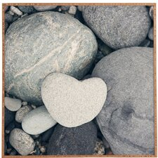 My HeArt Shaped Rock by Catherine McDonald Framed Photographic Print