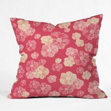 Lisa Argyropoulos Blossoms On Coral Throw Pillow