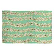 Jacqueline Maldonado Leaf Dot Stripe Mint Rug