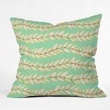 Jacqueline Maldonado Leaf Dot Stripe Throw Pillow