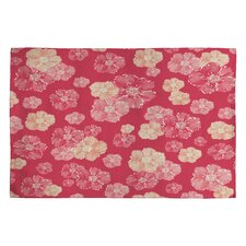 Lisa Argyropoulos Blossoms on Coral Rug