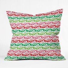 Andi Bird Sugar Plum Stripe Throw Pillow