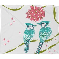 Betsy Olmsted Holiday Birds Plush Fleece Throw Blanket