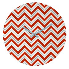 Caroline Okun Peppermint Wall Clock