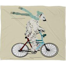 Brian Buckley Polar Bear Days Plush Fleece Throw Blanket