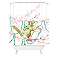 Betsy Olmsted Holiday Chipmunk Shower Curtain