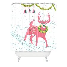 Betsy Olmsted Holiday Deer Shower Curtain