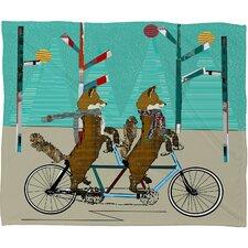 Brian Buckley Foxy Days Lets Tandem Plush Fleece Throw Blanket