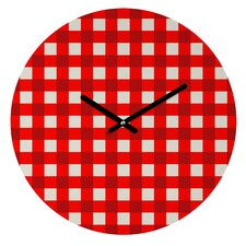 Holli Zollinger Gingham Wall Clock