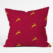 Jacqueline Maldonado Reindeer Stars Throw Pillow
