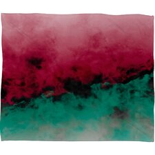 Caleb Troy Zero Visibility Poinsettia Ombre Plush Fleece Throw Blanket