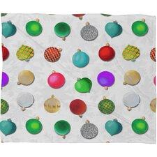 Madart Inc Multi Ornaments Design Plush Fleece Throw Blanket