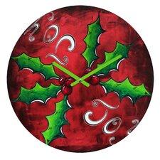 Madart Inc Mistletoe Joy Wall Clock