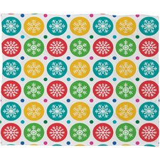 Andi Bird Sierra Snowflakes Plush Fleece Throw Blanket