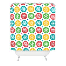 Andi Bird Sierra Snowflakes Shower Curtain