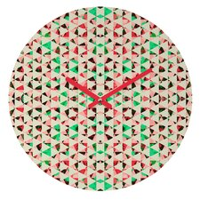 Caleb Troy Holiday Tone Shards Wall Clock