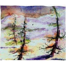 Ginette Fine Art Winter Trees Plush Fleece Throw Blanket