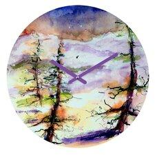 Ginette Fine Art Winter Trees Wall Clock