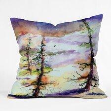 Ginette Fine Art Winter Trees Throw Pillow