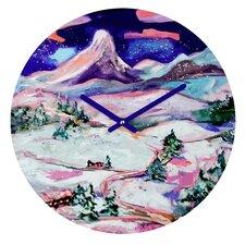 "Ginette Fine Art 12"" Winter Wonderland Wall Clock"