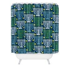 Loni Harris Menorahs Shower Curtain