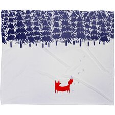 Robert Farkas Alone In The Forest Plush Fleece Throw Blanket
