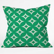 Holli Zollinger Emerald Diamonds Throw Pillow