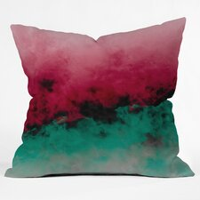 Caleb Troy Zero Visibility Poinsettia Ombre Throw Pillow