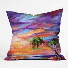 Ginette Fine Art Florida Palms Beach Indoor/Outdoor Throw Pillow