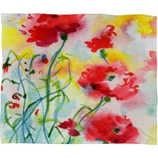 Ginette Fine Art If Poppies Could Only Speak Throw Blanket