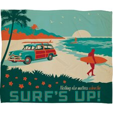 Anderson Design Group Surfs Up Throw Blanket