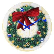 Madart Inc. Pine Wreath Wall Clock