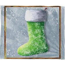 Madart Inc. Vintage Stocking Plush Fleece Throw Blanket