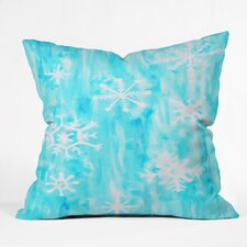 Rosie Brown Snowing Throw Pillow