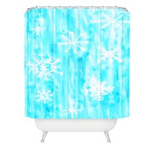 Rosie Brown Snowing Shower Curtain