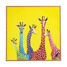 """Jellybean Giraffes"" by Clara Nilles Framed Graphic Art"