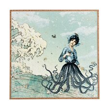 Sea Fairy by Belle13 Framed Graphic Art
