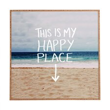 Happy Place X Beach by Leah Flores Framed Graphic Art