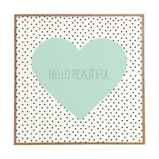 Hello Beautiful Heart by Allyson Johnson Framed Textual Art