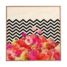 Chevron Flora 2 by Bianca Green Framed Graphic Art