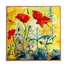 Poppies Provence by Ginette Fine Art Framed Painting Print