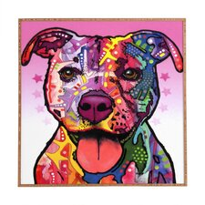 Cherish The Pitbull by Dean Russo Framed Graphic Art