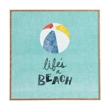 Lifes A Beach by Nick Nelson Framed Textual Art