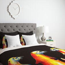 Clara Nilles Flaming Otters Duvet Cover Collection
