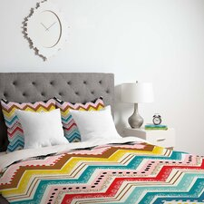 Khristian A Howell Lightweight Nolita Chevrons Duvet Cover