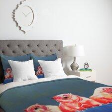 Clara Nilles Polarbear Blush Duvet Cover Collection