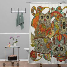 Valentina Ramos 4 Owls Shower Curtain