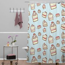 Jennifer Denty Cake Slices Shower Curtain
